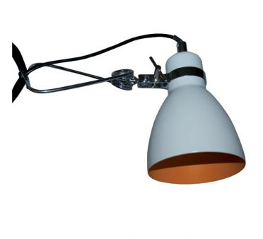 Lampe Clip Blanche et Orange