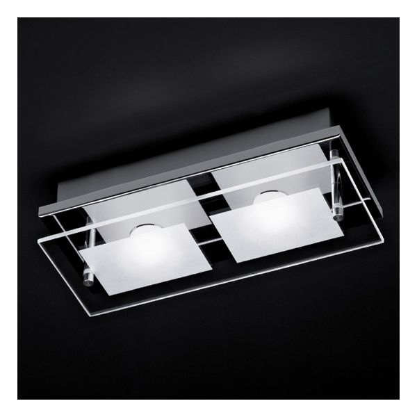 double luminaire plafonnier design azur led remplacable millumine. Black Bedroom Furniture Sets. Home Design Ideas