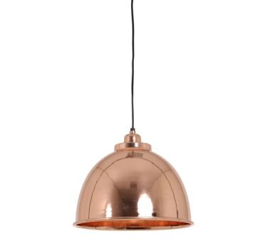 Lustre suspension cuivr e rose caracas millumine for Lustre ou suspension