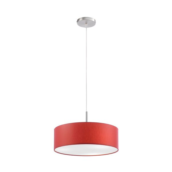 Luminaire rouge salma 3 lumi res millumine for Luminaire suspension rouge