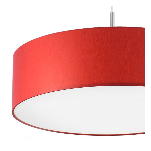 Grand lustre rouge salma ou plafonnier 3 lumi res millumine for Luminaire suspension rouge