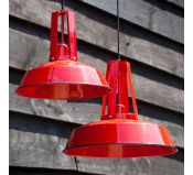 Suspension Industrielle 1920 Rouge