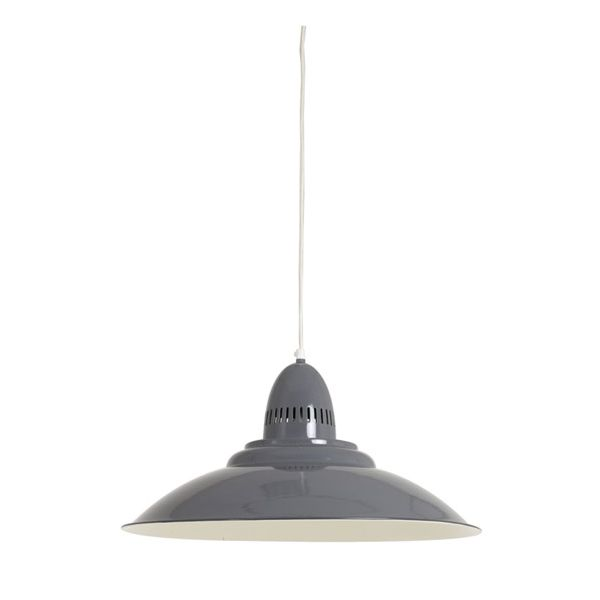 Grande suspension style industriel leontine grise millumine for Grande suspension luminaire