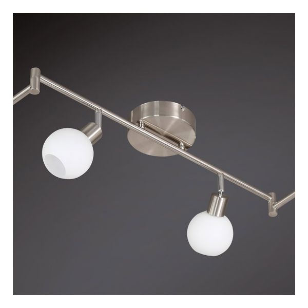 Grand rail plafonnier design 6 led estrella millumine - Grand plafonnier design ...