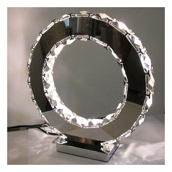 lampe poser led ring facettes millumine. Black Bedroom Furniture Sets. Home Design Ideas