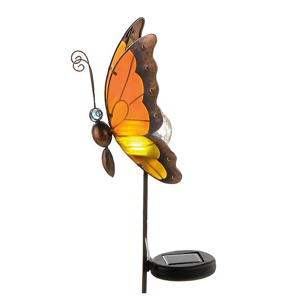 lampe solaire jardin led papillon noctuelle millumine. Black Bedroom Furniture Sets. Home Design Ideas