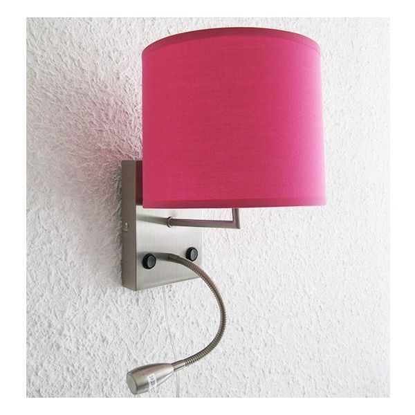 lampe applique avec liseuse nuit d 39 h tel rose millumine. Black Bedroom Furniture Sets. Home Design Ideas