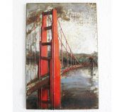 Tableau Contemporain métal Golden Gate San Francisco 40 x 60