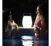 Lampe Nomade LED enceinte Bluetooth rechargeable playlist Pool