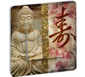 Interrupteur Decore Buddha Orchidee simple bouton poussoir