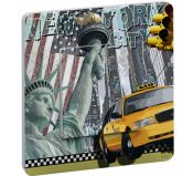 Interrupteur Decore Liberty Island simple bouton poussoir