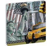 Interrupteur Decore Liberty Island Double Poussoir