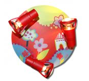 Lampe Murale Enfant Rouge Flower