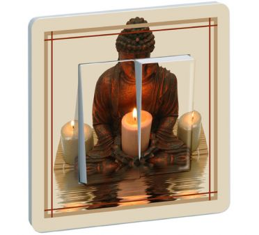 Interrupteur Buddha Meditation double