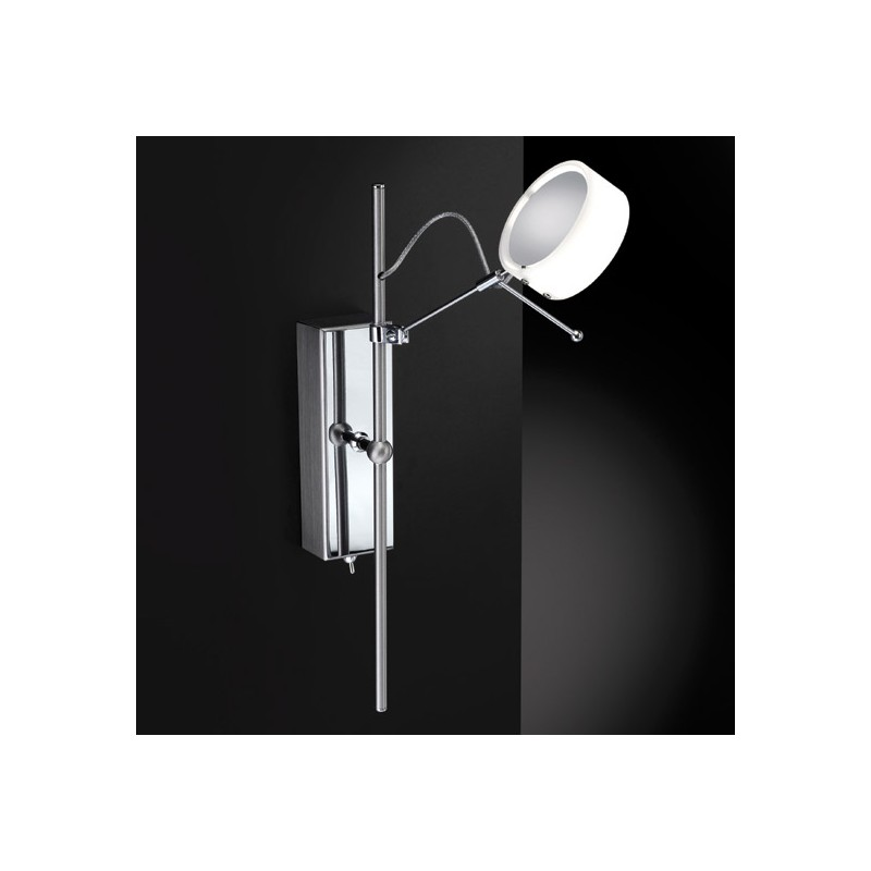 Applique led spot loop blanche millumine for Applique murale exterieur blanche