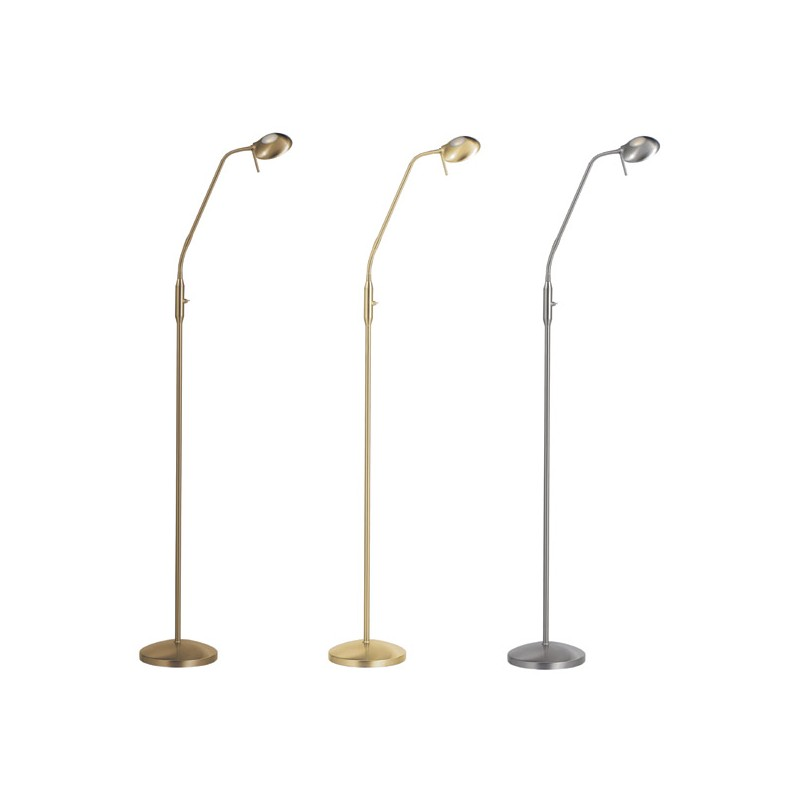 Lampadaire design led lilly nickel mat millumine for Lampadaire exterieur design led