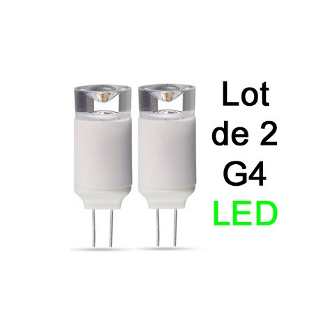 Lot de 2 Ampoules LED G4 Blanc Chaud 1.5 W