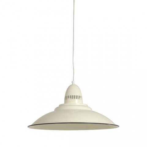 Grande Suspension Style Industriel Leontine ivoire