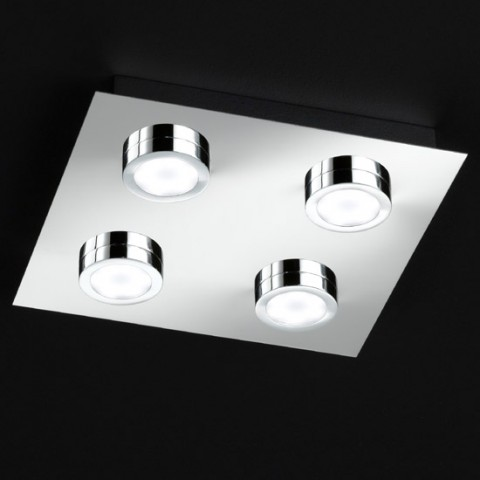 Plafonnier Design LED Alessandro Chromé
