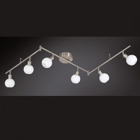 Grand rail plafonnier design 6 LED Estrella