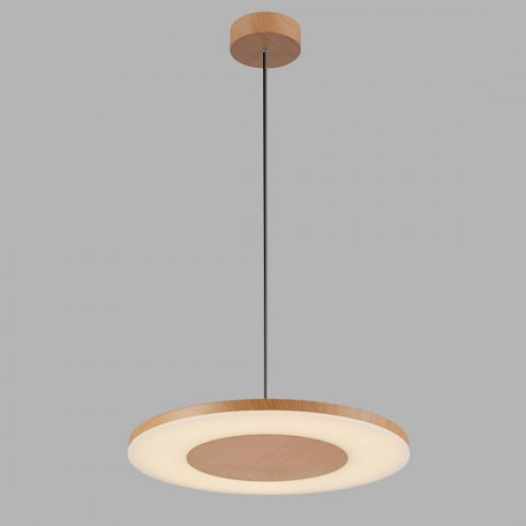 Suspension design Circle en imitation bois