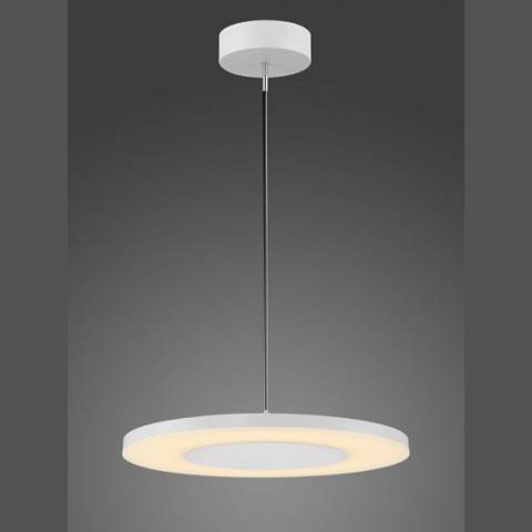 Lustre LED Circle en métal blanc