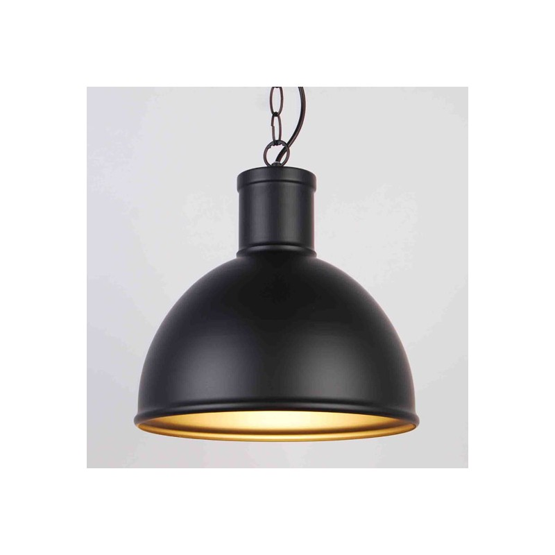 Suspension industrielle loco noire millumine for Suspension cuisine industriel