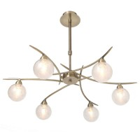 Suspension Laiton antique Groovy 6 lampes