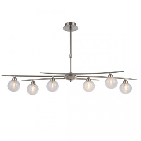 Lustre design Groovy Nickel satiné