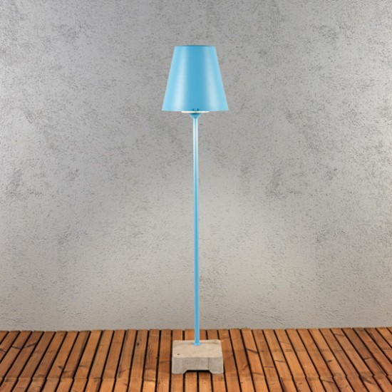 lampe exterieur sur pied jardin alibi bleue a brancher. Black Bedroom Furniture Sets. Home Design Ideas