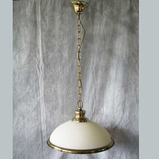 Grande Suspension Baroque Laiton verre