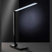 Lampe de bureau LED High-Tech noire Port USB
