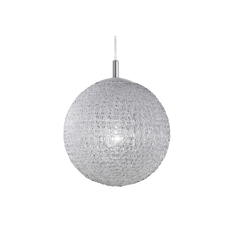 Suspension design boule blanche 40 millumine for Suspension boule