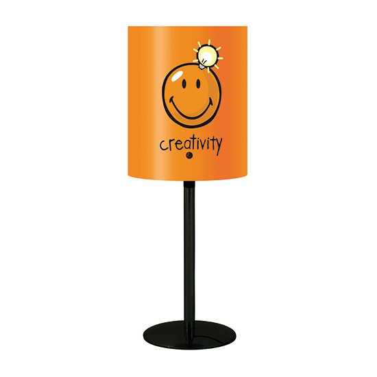 Lampe de bureau orange Smiley