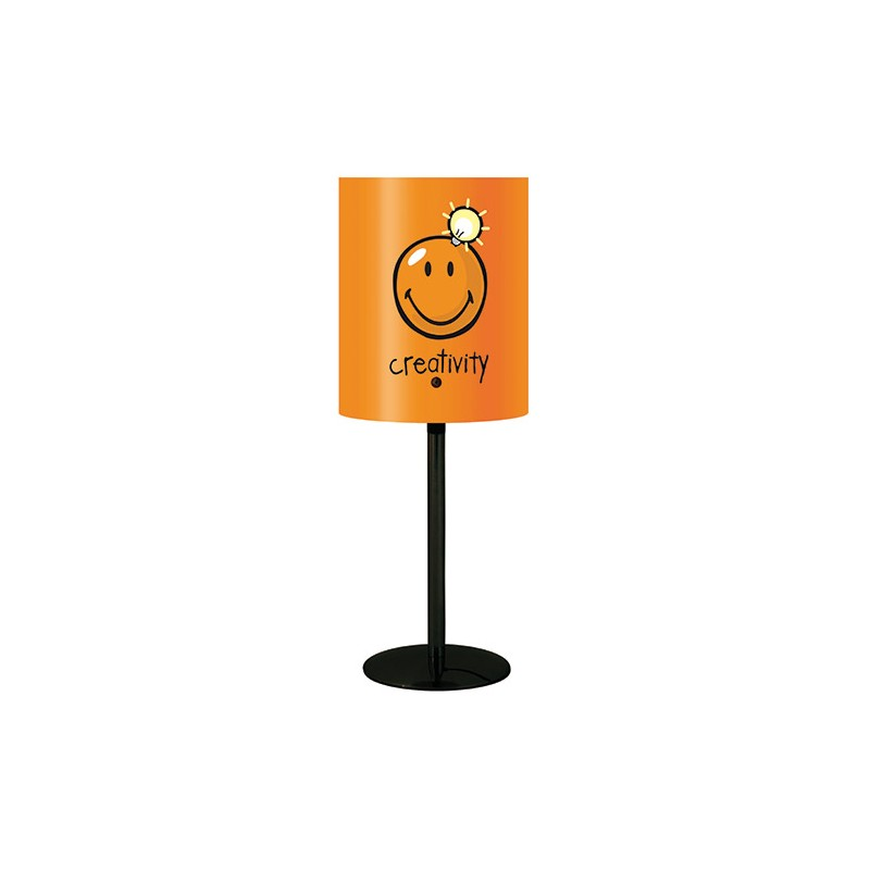 lampe de bureau orange smiley millumine. Black Bedroom Furniture Sets. Home Design Ideas