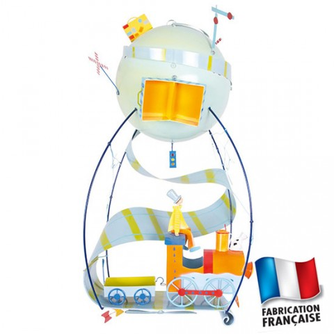 Mobile suspension deco Petit train Schlumpters