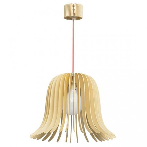Suspension scandinave en bois blond Sven