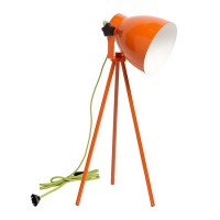Lampe à poser design Pop's orange câble vert