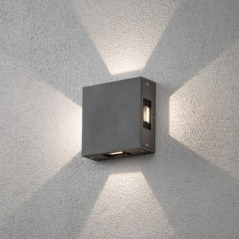 Applique murale exterieur led Sariette gris anthracite