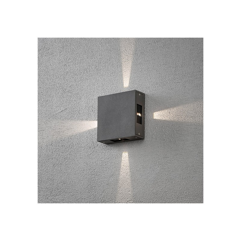 Applique murale exterieur led sariette gris anthracite for Applique murale exterieur