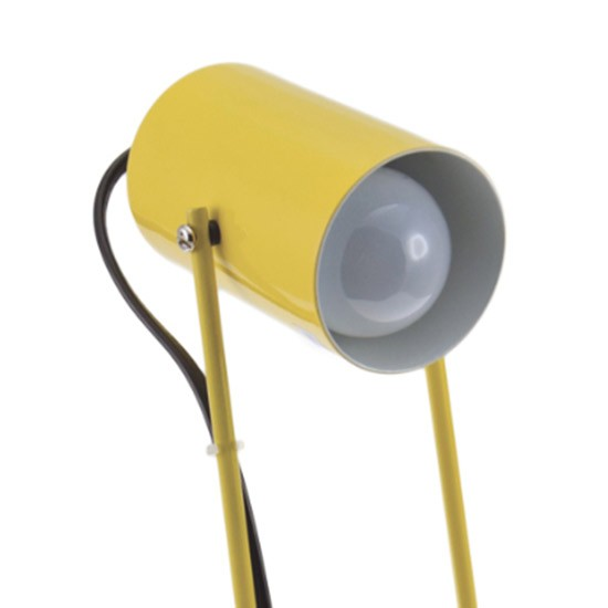 Luminaire jaune de table Seventies