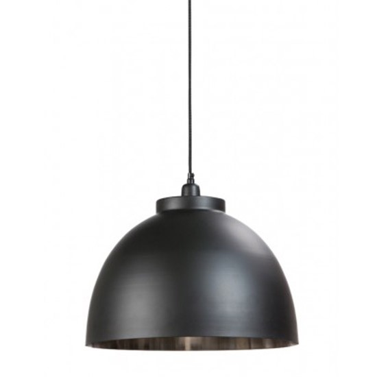 Suspension style industriel nickel et noir Contrast