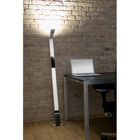 Lampadaire LED Blanc Flex Dimmable et Nomade