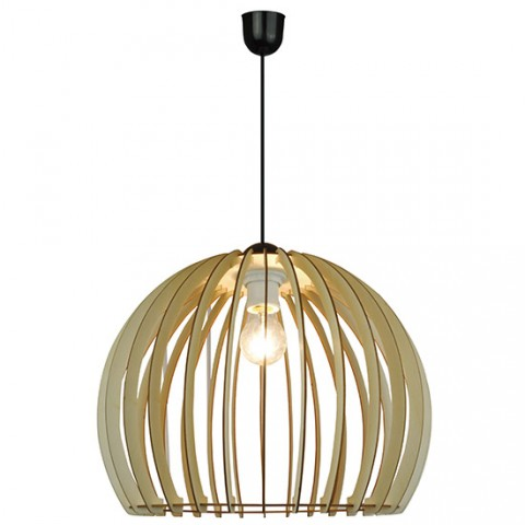 Grande suspension bois style scandinave Baie d'Along