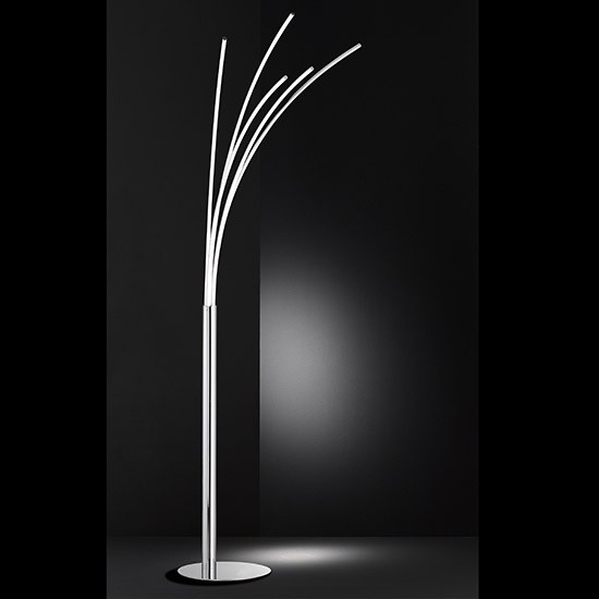 grand lampadaire led 5 branches liane dimmable millumine. Black Bedroom Furniture Sets. Home Design Ideas