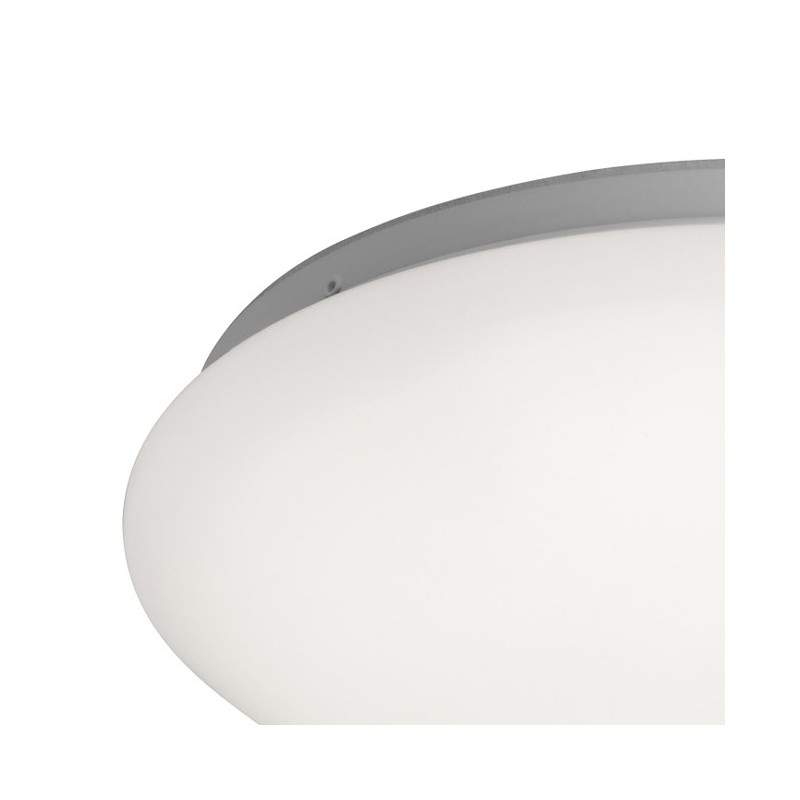 Plafonnier dalle led galet luminaire blanc ip44 millumine for Luminaire blanc
