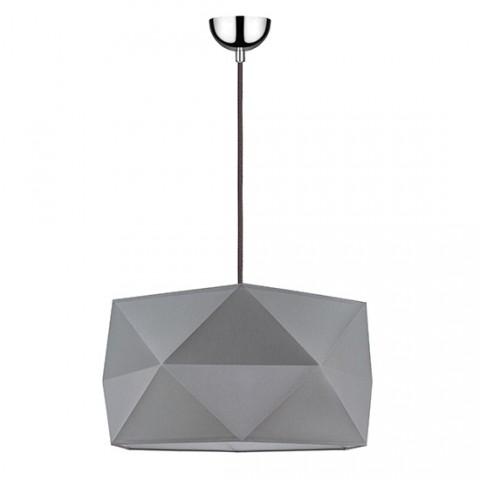 grande Suspension design tissu gris Emeline