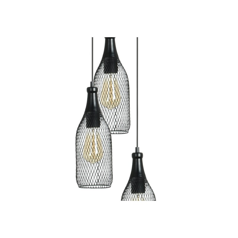 luminaire industriel highlight 3 lampes suspension loft millumine. Black Bedroom Furniture Sets. Home Design Ideas
