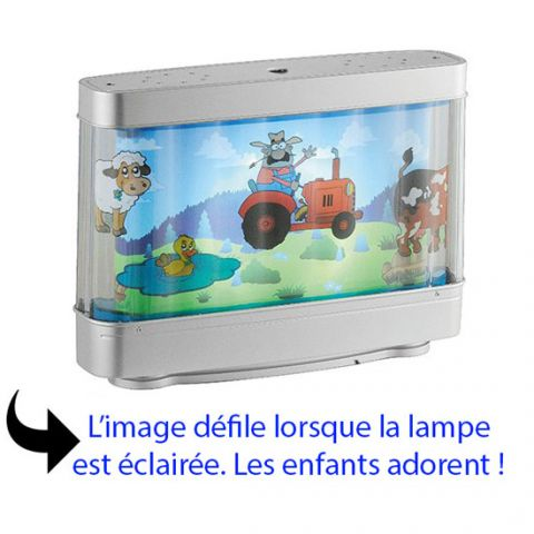 lampe de chevet originale led pour enfant aquarium d cor anim millumine. Black Bedroom Furniture Sets. Home Design Ideas
