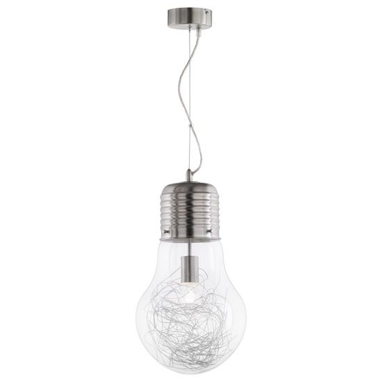 Suspension Design Bulb métal brossé
